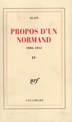 image of Propos d'un Normand, Tome IV