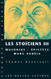image of Les stoïciens, Tome III