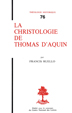 image of La christologie de Thomas d'Aquin